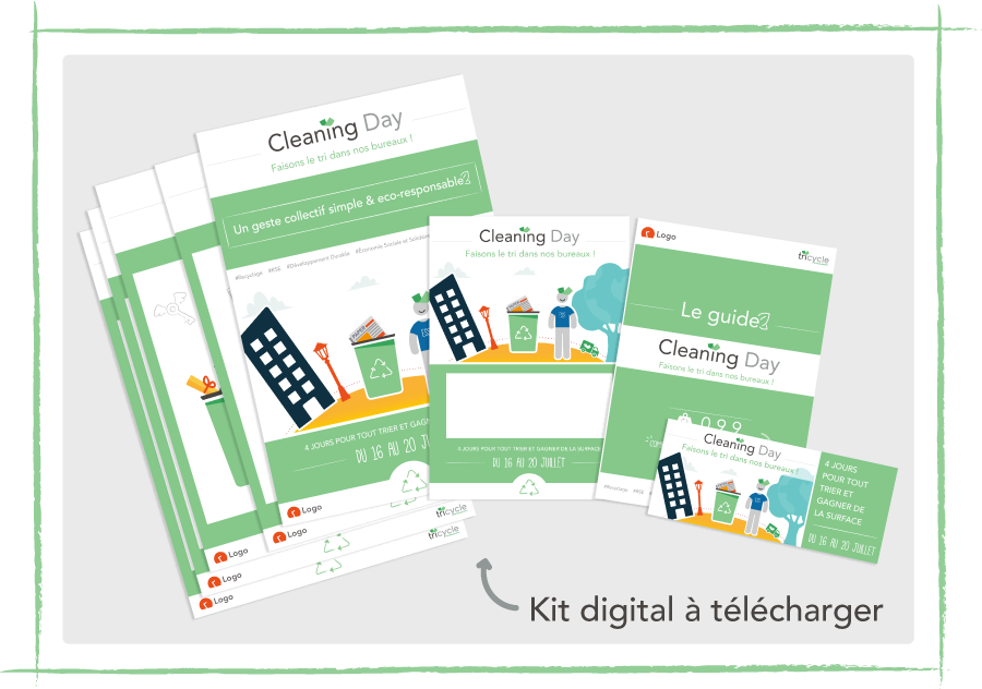 Tricycle Environnement Kit digital Cleaning Day RSE