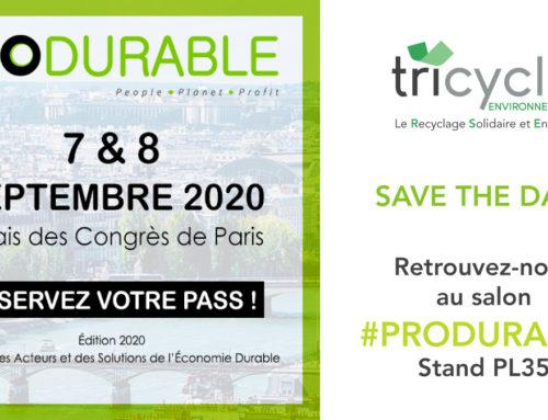 Tricycle participe au salon Produrable 2020