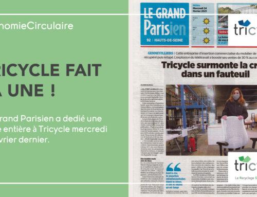 Tricycle fait la Une du Grand Parisien