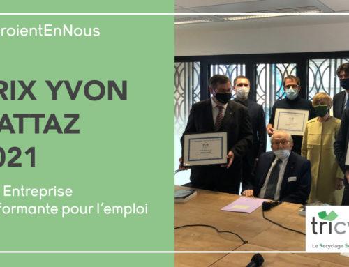 """Tricycle remporte le Prix Yvon Gattaz """"Entreprise Performante pour l'emploi"""""""
