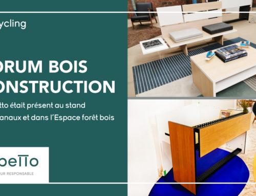 Gepetto dévoile son nouveau mobilier au Forum Bois Construction