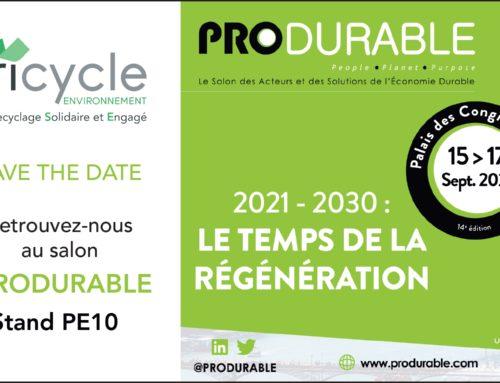 Tricycle participe au salon PRODURABLE 2021